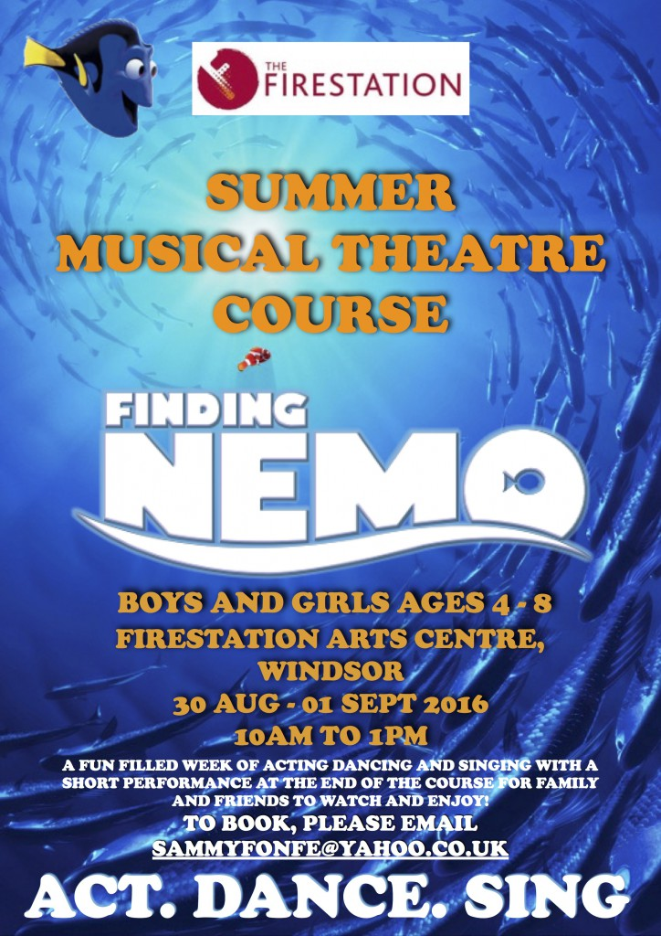 Finding Nemo summer course flyer copy